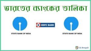 ভারতের সরকারি ও বে-সরকারি ব্যাংকের তালিকা 2020