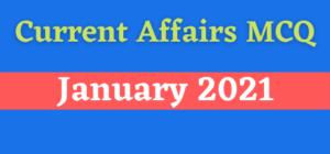 Current Affairs MCQ Pdf 1 January 2021