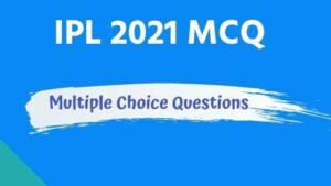 IPL 2021 MCQ in Bengali